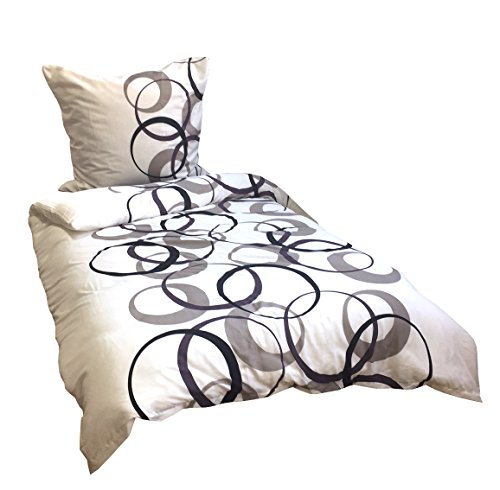 4 teilig Bettwäsche karo 135 x 200 cm schwarz grau weiß Microfaser 2 Garnituren