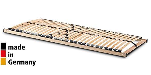 7-Zonen Lattenrost Maxi 28 Leisten Lattenrahmen 90 140 80x200 cm Härteregulierung Massiv