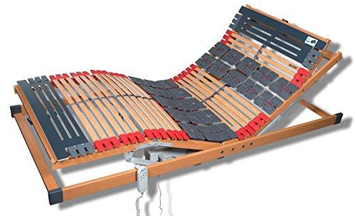 7 Zonen Teller Lattenrost Rhodos EL Komfort - Kopf- und Fußteil elektrisch verstellbar 2 Tellerzonen Lattenroste in verschiedenen Größen