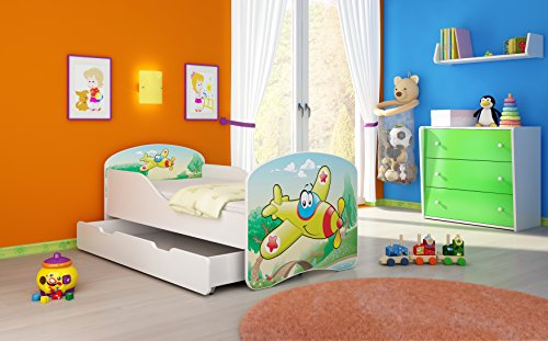 acma kinderbett jugendbett juniorbett bett 70x140 cm aus. Black Bedroom Furniture Sets. Home Design Ideas