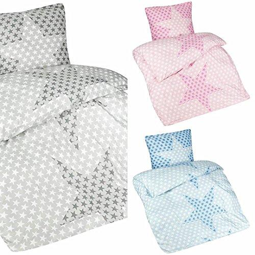 aminata kids sch ne 2 teilige kinder bettw sche mit sternen verschiedene farben bettbezug. Black Bedroom Furniture Sets. Home Design Ideas