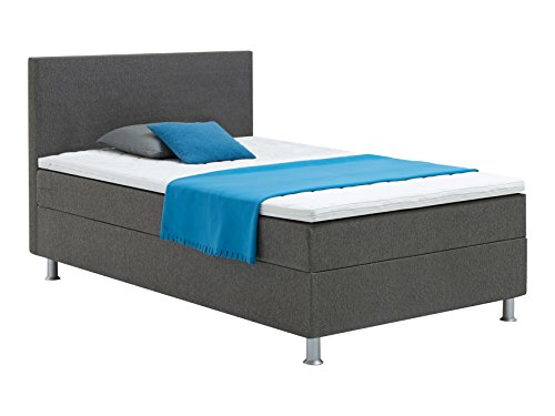 Atlantic Home Collection EDISON120 Boxspringbett, Härtegrad H2, inklusive Topper