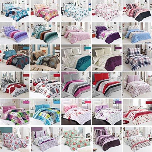 Baumwolle Bettwäsche Bettgarnitur mit Reißverschluss 3 Größen und vielen Farben Öko-Tex