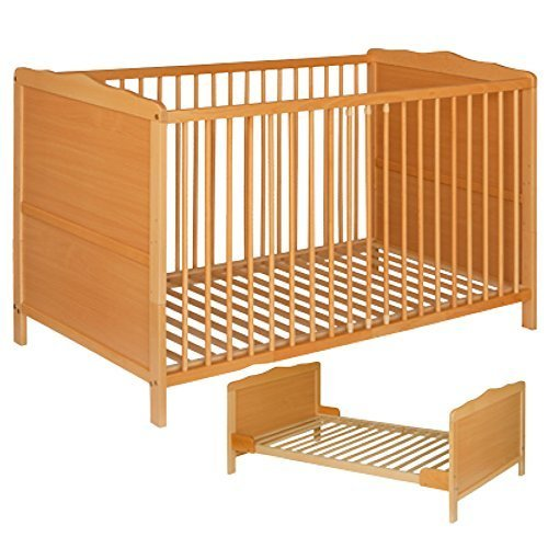Best For Kids NELLY 2 in 1 GITTERBETT KINDERBETT JUNIORBETT BETT TODDLER BED 140x70 ohne Matratze