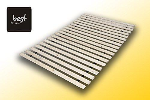 Best For You Rollrost aus 10,15 oder 20 massiven stabilen Holzlatten Geeignet für alle Matratzen - in viele Größen 60x120 cm - 160x200 cm