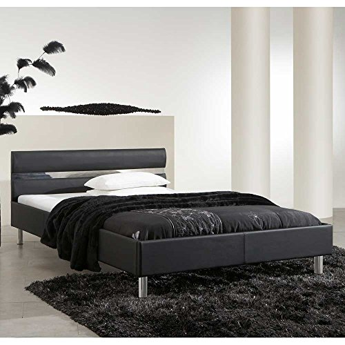 bett polsterbett doppelbett enna schwarz 140x200 pharao24 boxspringbetten. Black Bedroom Furniture Sets. Home Design Ideas