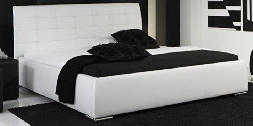 bett polsterbett futonbett leder clara weiss pharao24. Black Bedroom Furniture Sets. Home Design Ideas