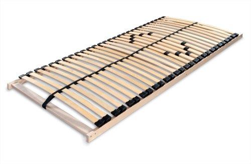 Betten-ABC Lattenrost zur Selbstmontage, mit 28 stabilen und flexiblen Federholzleisten und durchgehenden Holmen, mit Mittelzonenverstellung im Beckenbereich