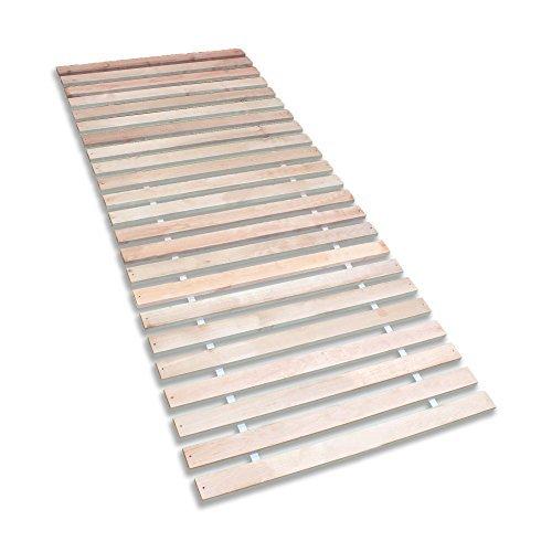 Betten-ABC Premium Rollrost, Stabiles Erlenholz, mit 23 Leisten und Befestigungsschrauben