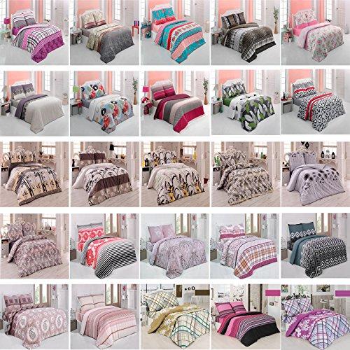 Bettwäsche Garnitur Bettbezug ✔135x200 ✔200x200 ✔200x220 ✓2tlg✓3tlg mit RV