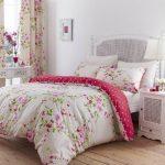 Bettwäsche Herrliche Baumwolle Einzel Rot Rosa Rosen Blumenmuster Wendbare Shabby Chic Bettbezug Set
