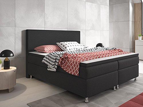 boxspringbett berlin hotelbett amerikanisches bett designerbett 180 200 cm webstoff anthrazit 0. Black Bedroom Furniture Sets. Home Design Ideas