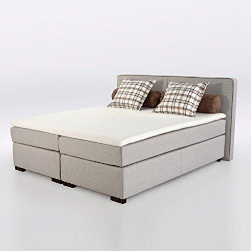 boxspringbett romantica grau beige 180x200cm microfaser. Black Bedroom Furniture Sets. Home Design Ideas