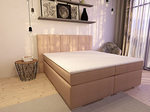 boxspringbett ka line 10x200 cm beige h2 mit stauraum bettkasten comfortbox fen polsterbett. Black Bedroom Furniture Sets. Home Design Ideas