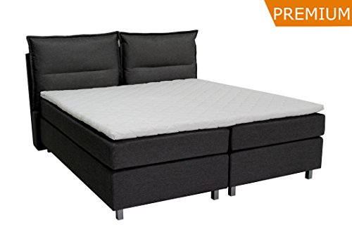 boxspringbett ka line gre cm farbe h mit kissen optik fen polsterbett premium hotelbett bett. Black Bedroom Furniture Sets. Home Design Ideas