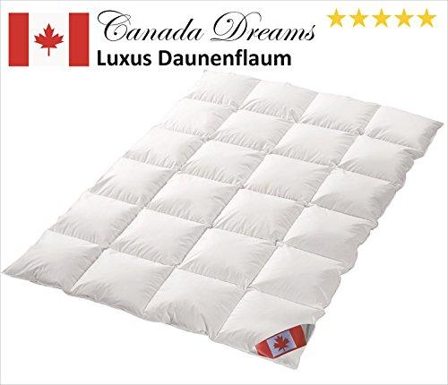 Canada Dreams Luxus Ganzjahres Daunendecke Wärmegrad 3 Luxus Daunenflaum ☆☆☆☆☆