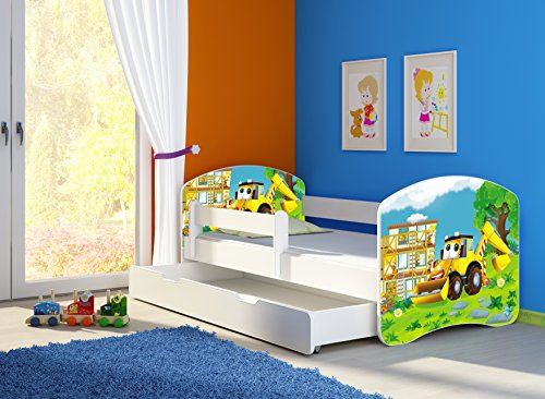 clamaro 39 fantasia wei 39 kinderbett mit rausfallschutz 38. Black Bedroom Furniture Sets. Home Design Ideas