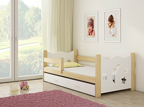 clamaro 39 sternenhimmel 39 80x160 kinderbett mit rausfallschutz 8 farben set inkl matratze. Black Bedroom Furniture Sets. Home Design Ideas