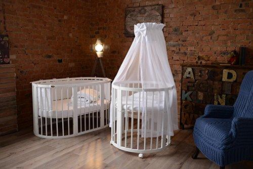 comfortbaby erweiterbares babybett kinderbett smartgrow 7in1 aus massivholz in weiss. Black Bedroom Furniture Sets. Home Design Ideas