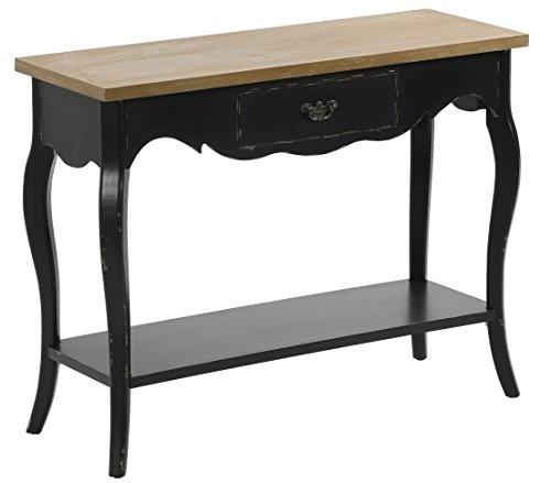 Dehner Sideboard Nantucket, ca. 106.5 x 38 x 82.5 cm, Holz, schwarz/braun