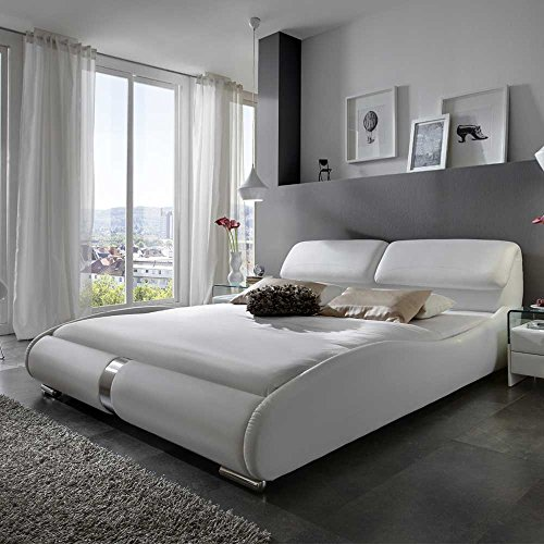 design polsterbett in wei 160x200 pharao24 boxspringbetten. Black Bedroom Furniture Sets. Home Design Ideas