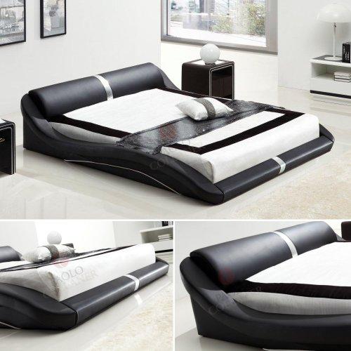 Designer Bett Pl0B Schwarz #58 - alle Größen