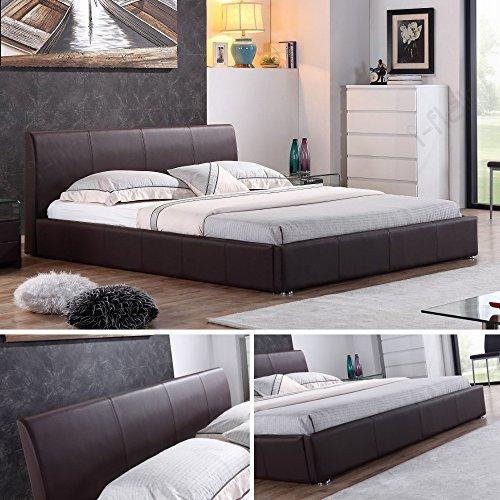 Designer Polsterbett Bett MONACO Doppelbett 3 Farben & 3 Größen zur Auswahl