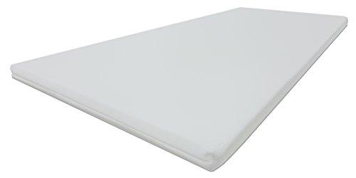 Dibapur® PRO SOFT - Kaltschaum Topper Matratzenauflage Auswahl x ca. 5 cm Kern mit Bezug ca. 5,2 cm - Made in Germany