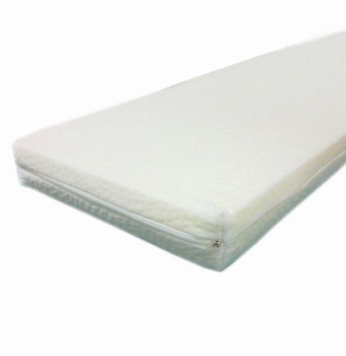 Dibapur - ca. 80cm x 200cm x 5cm - Viscoelastische Matratzenauflage, Visco auflage, mit Bezug