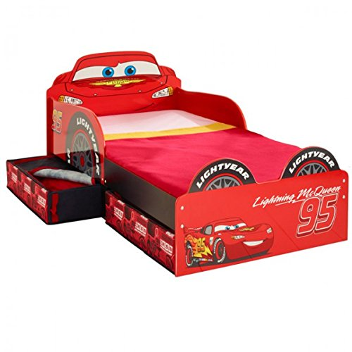 Disney CARS Toddler Bed Storage Kinderbett Bett Lightning McQueen Aufbewahrungsschubladen Auto