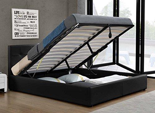 Doppelbett Bettkasten Klappbett Polsterbett Bettgestell Bett Lattenrost Kunstleder