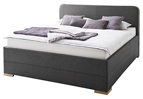dormeta polsterbett bett 180x200 anthrazit bett mit. Black Bedroom Furniture Sets. Home Design Ideas