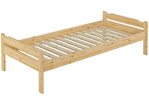 Erst-Holz 60.31-09 Einzelbett mit Rollrost - 90x200 - Massivholz Natur