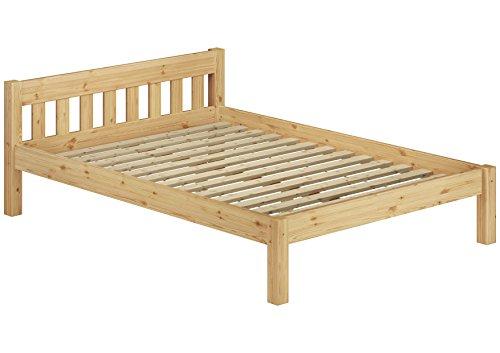 Erst-Holz 60.38-12 Einzelbett mit Rollrost - 120x200 - Massivholz Natur