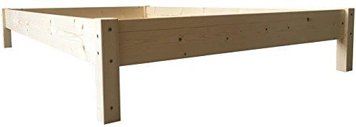 Futonbett Bett Holz massiv Holzbett Massivholzbett 90 100 120 140 160 180 200 x 200cm, hergestellt in BRD