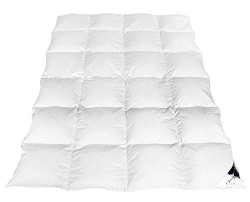Ganzjahresdecke Daunendecke 200x220cm 100 % Baumwolle Bettdecke 100 % Naturprodukt Decke Steppdecke NEU Gänsedaunen 1400gr.