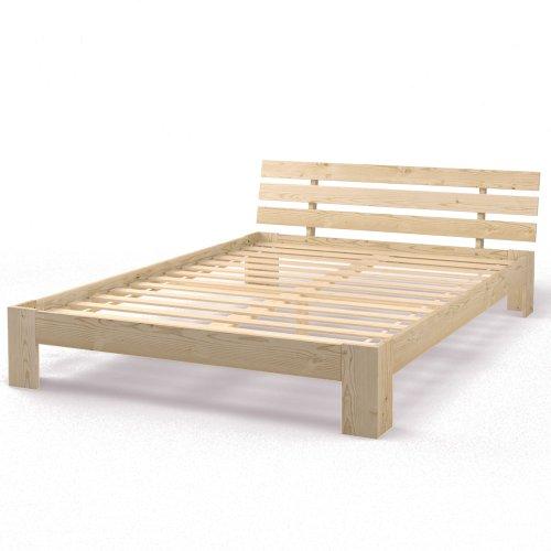Holzbett Doppelbett Holz 140x200 160x200 180x200 cm Massivholz Bett Bettgestell inkl. Lattenrost Weiß oder Natur