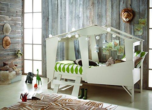 Hüttenbett Kinderbett Abenteuerbett Baumhaus Treehouse Hütte - Beige