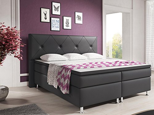 inter boxspringbett lederimitat boxspringbetten. Black Bedroom Furniture Sets. Home Design Ideas