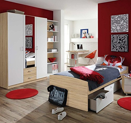 jugendzimmer kinderzimmer komplett set jugendmbel 4 teilig sonoma eiche nb alpinwei umbauliege. Black Bedroom Furniture Sets. Home Design Ideas