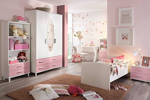 jugendzimmer kinderzimmer komplett set jugendm bel kleiderschrank bett mit ma en. Black Bedroom Furniture Sets. Home Design Ideas