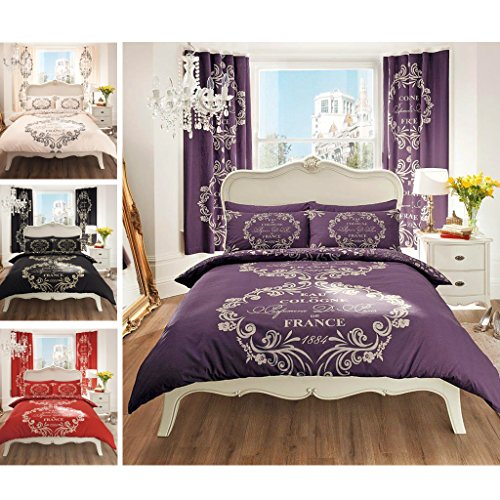 just contempo bettw sche set nobles eau de cologne motiv. Black Bedroom Furniture Sets. Home Design Ideas