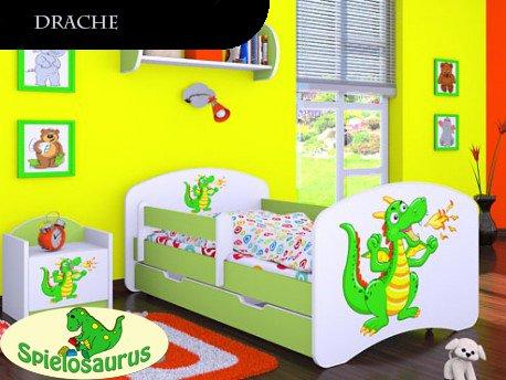 Kinderbett Drache - inkl. Schubladen und Matratze viele Farben
