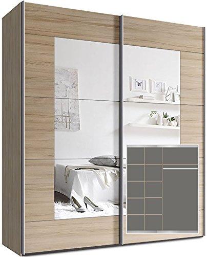 kleiderschrank schwebet renschrank ca 200cm inkl 9 einlegeb den. Black Bedroom Furniture Sets. Home Design Ideas