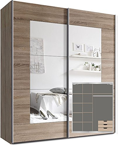 kleiderschrank schwebet renschrank ca 200cm inkl 9. Black Bedroom Furniture Sets. Home Design Ideas