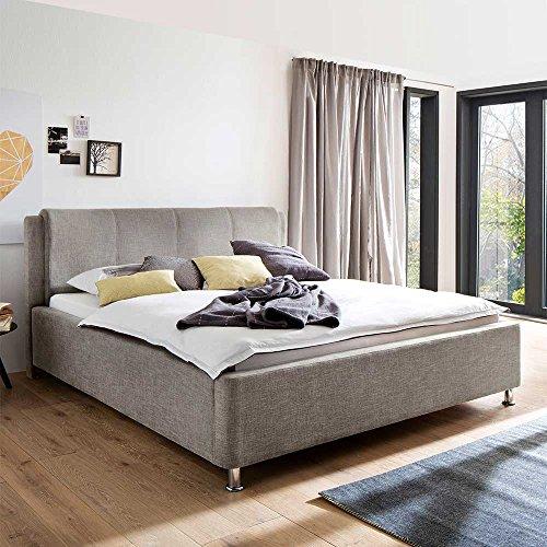 Komfortbett mit Bettkasten Beige Pharao24