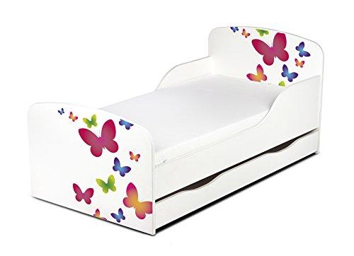 leomark kinderbett 140x70 mit schublade funktionsbett einzelbett mit matratze motiv. Black Bedroom Furniture Sets. Home Design Ideas