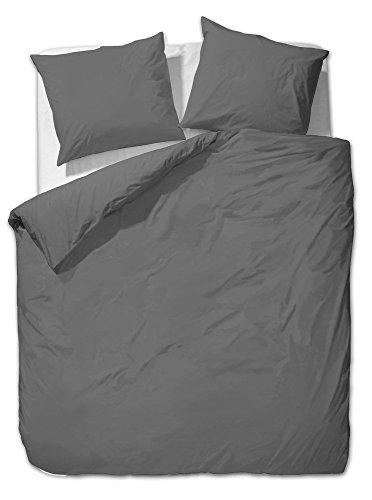 mako satin uni einfarbig bettw sche set kissenbezuge. Black Bedroom Furniture Sets. Home Design Ideas