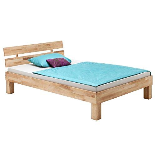 Massivholzbett aus Buche Einzelbett Doppelbett Jugendbett LARA, verschiedene Größen, geölt