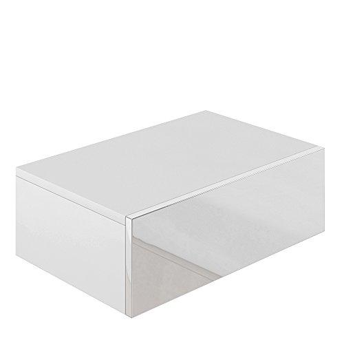 nachttisch kommode nachtschrank schublade ablage schrank schlafzimmer wei hochglanz 0. Black Bedroom Furniture Sets. Home Design Ideas